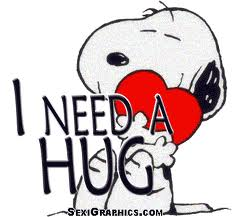 snoopy hug